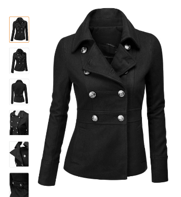 Black Pea Coat Womens