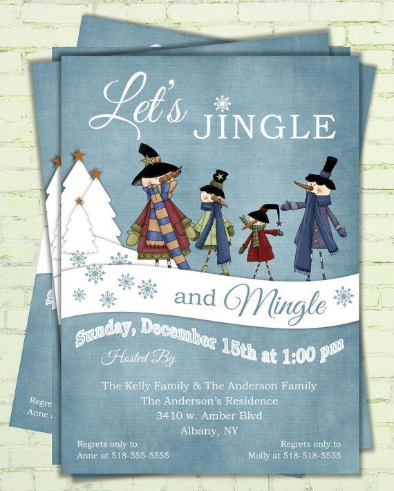 Christmas Invitation - Digital Printable Holiday Invitation Card