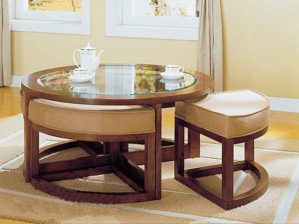 La Table Basse Avec Pouf Pour Un Style De Vie Moderne Archzine Fr Table Basse Pouf Table Basse Table Basse Ronde En Verre