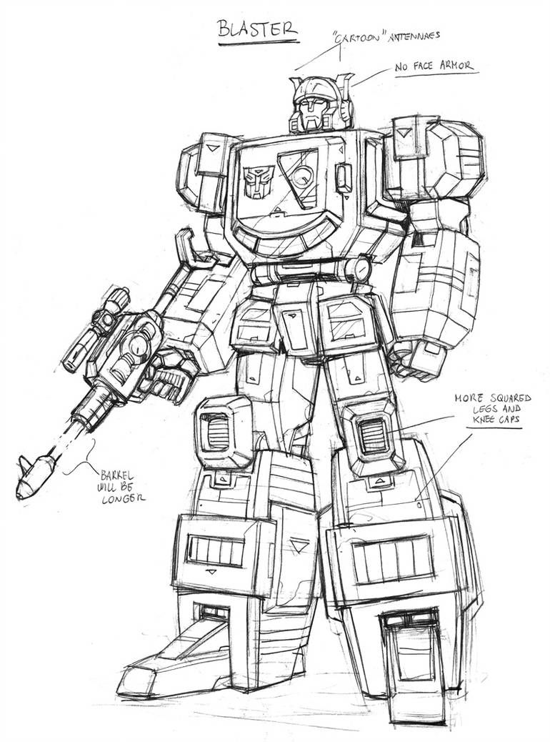 Ahm Blaster By Guidoguidi Transformers Artwork Transformers Drawing Transformers Coloring Pages