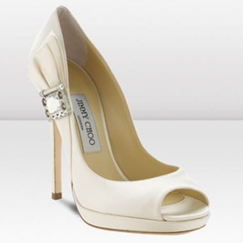 Jimmy Choo Grant Satin Bridal Shoes Ivory
