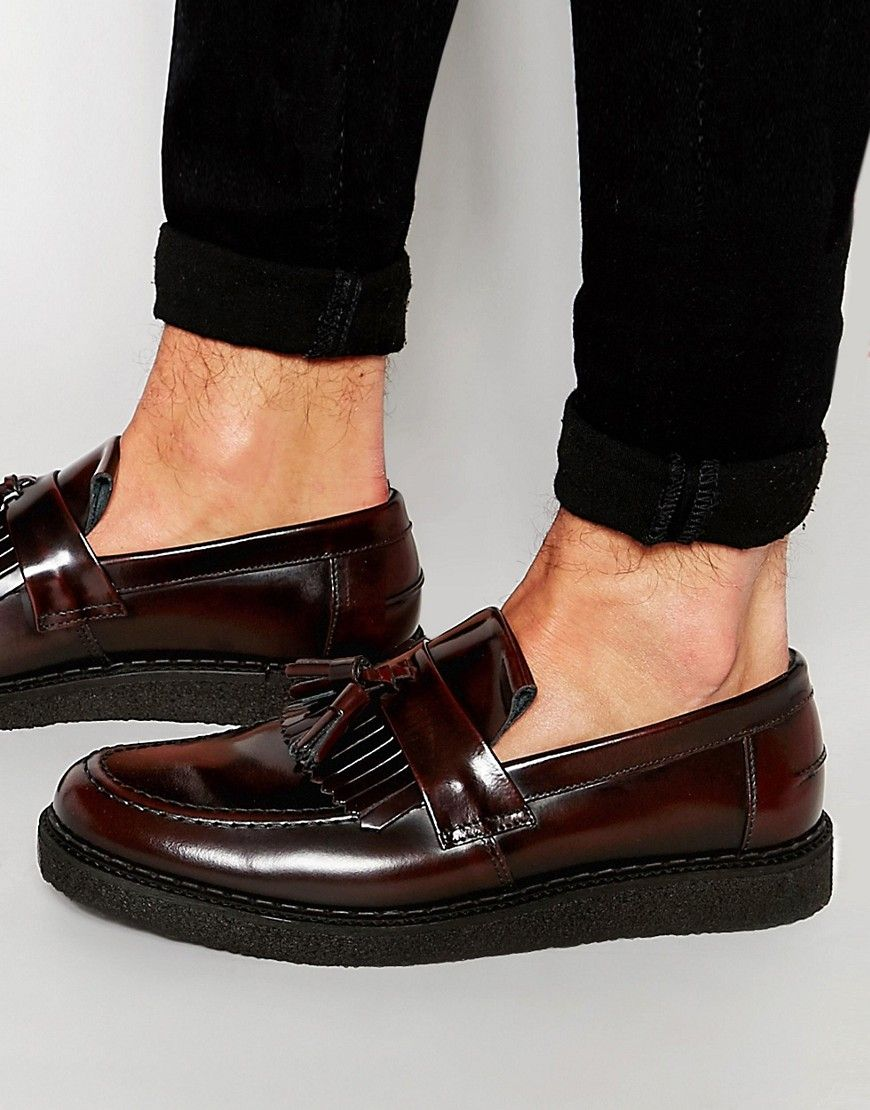 08cbb8a10 Fred+Perry+X+George+Cox+Leather+Tassel+Loafers | Men shoes | Leather ...