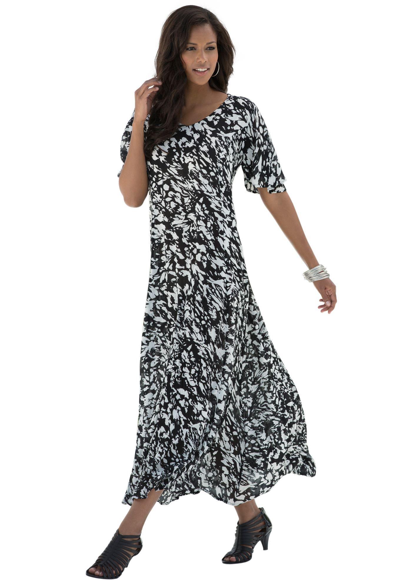 Crinkle Short Sleeve Maxi Dress Maxi Dress Plus Size Maxi Dresses Short Sleeve Maxi Dresses [ 1986 x 1380 Pixel ]