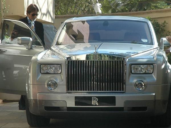 Amitabh Bachchan and his rolls royce phantom