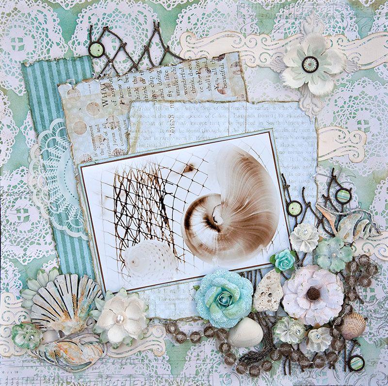 Seashells Scrapbook Scrapbookingpaper Crafting Pinterest