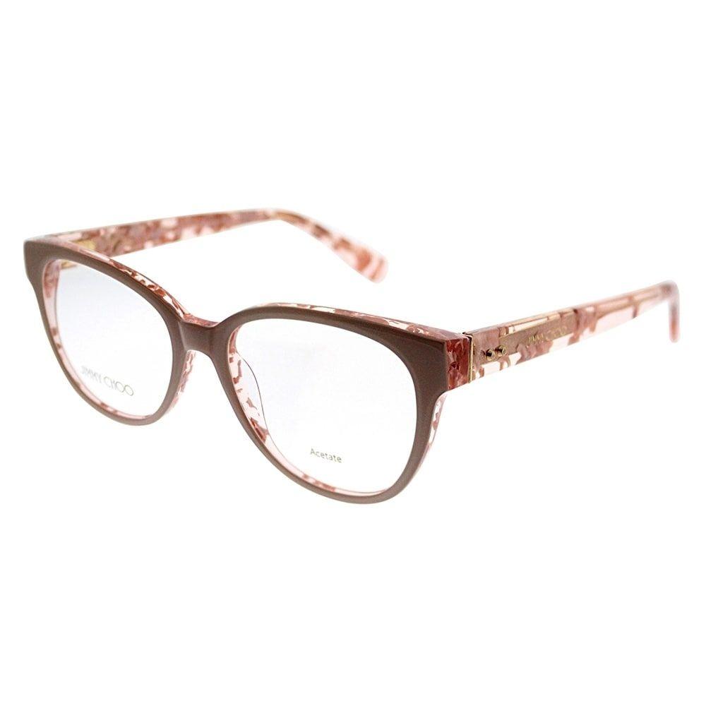 Jimmy Choo Cat-Eye JC 141 J42 Women Nude Spotted Frame Eyeglasses ...
