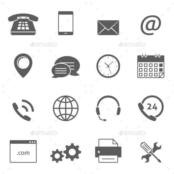 Contact Us Icons Call Center Design Business Icons Design Icon