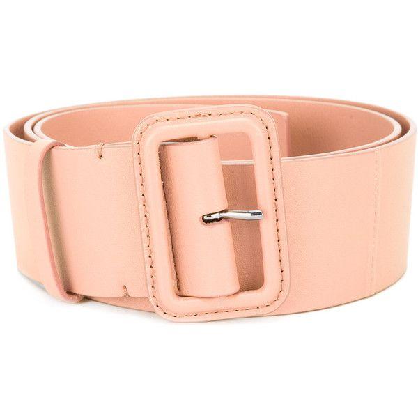 Jil Sander wide belt ($240) ❤ liked on Polyvore featuring accessories, belts, pink, jil sander, buckle belt, wide belt, jil sander belt and wide pink belt
