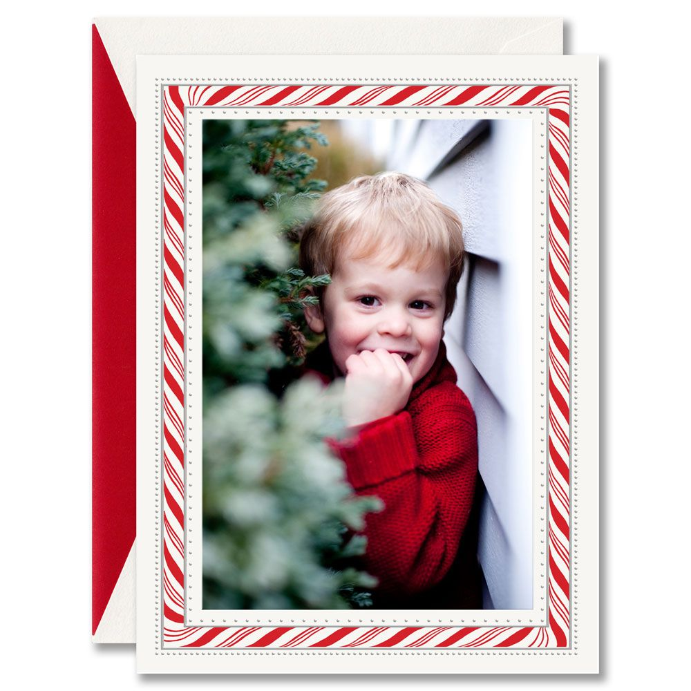 Sweet as sugar, this photo card provides a perfect treat for its ...