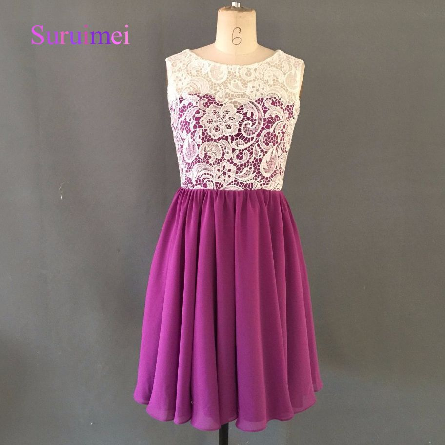 Click to buy ucuc u style vintage short prom dress lace taffeta