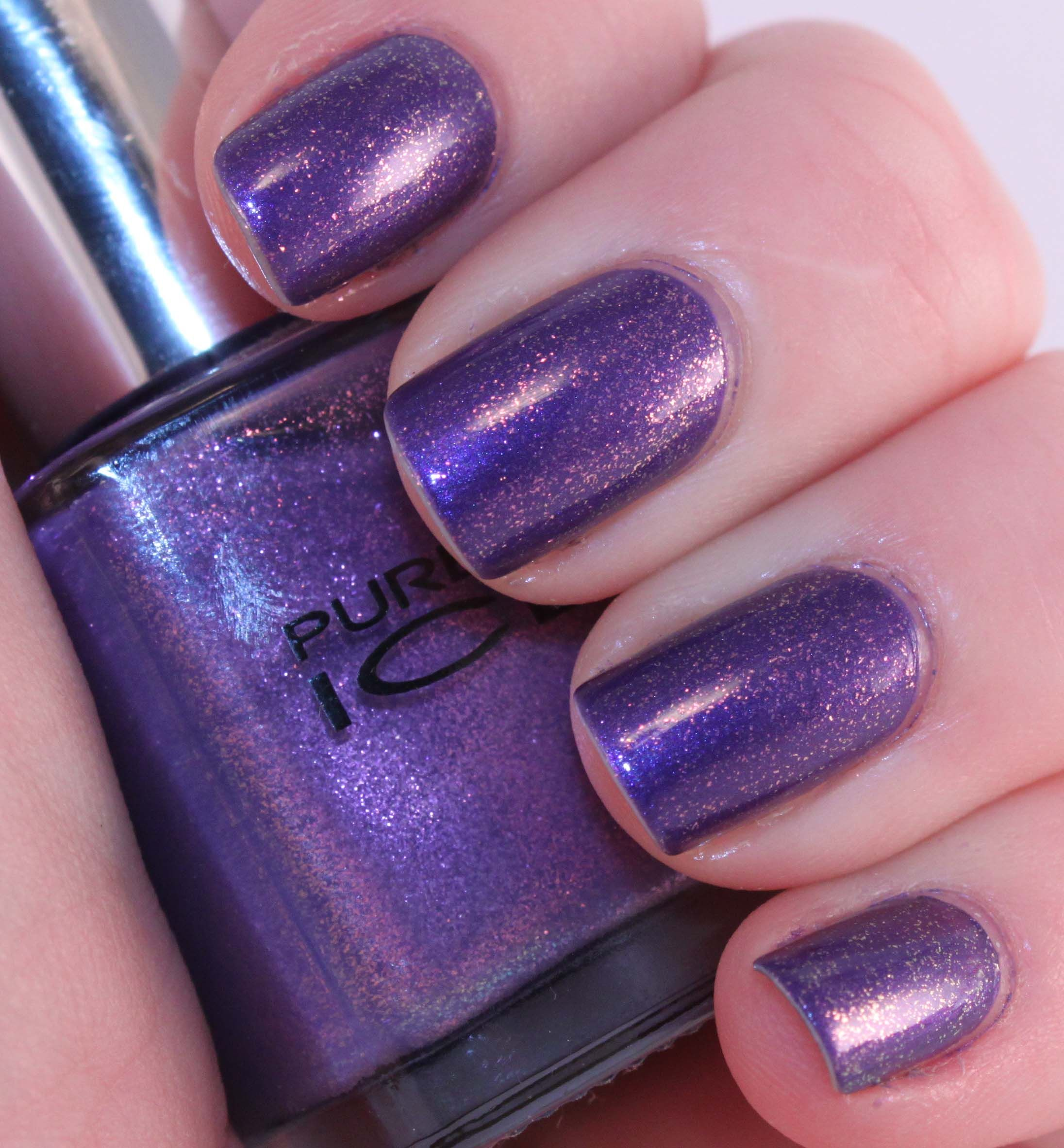 Pure Ice - Busted (over Sally Hansen Xtreme Wear - Deep Purple ...