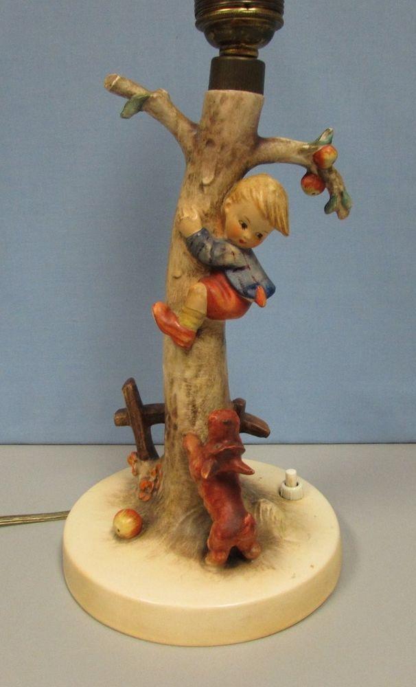 Goebel Hummel Lamp Vintage Boy in Tree Dog Culprits 44/A 4935 ...