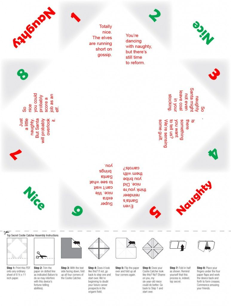 Holiday cootie catcher | Paper flowers and other paper items ...