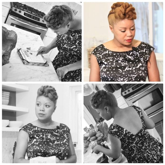 Is it just me, or do these pictures look like they were taken In the 50's! Hair pics for the taping of Deals yesterday.