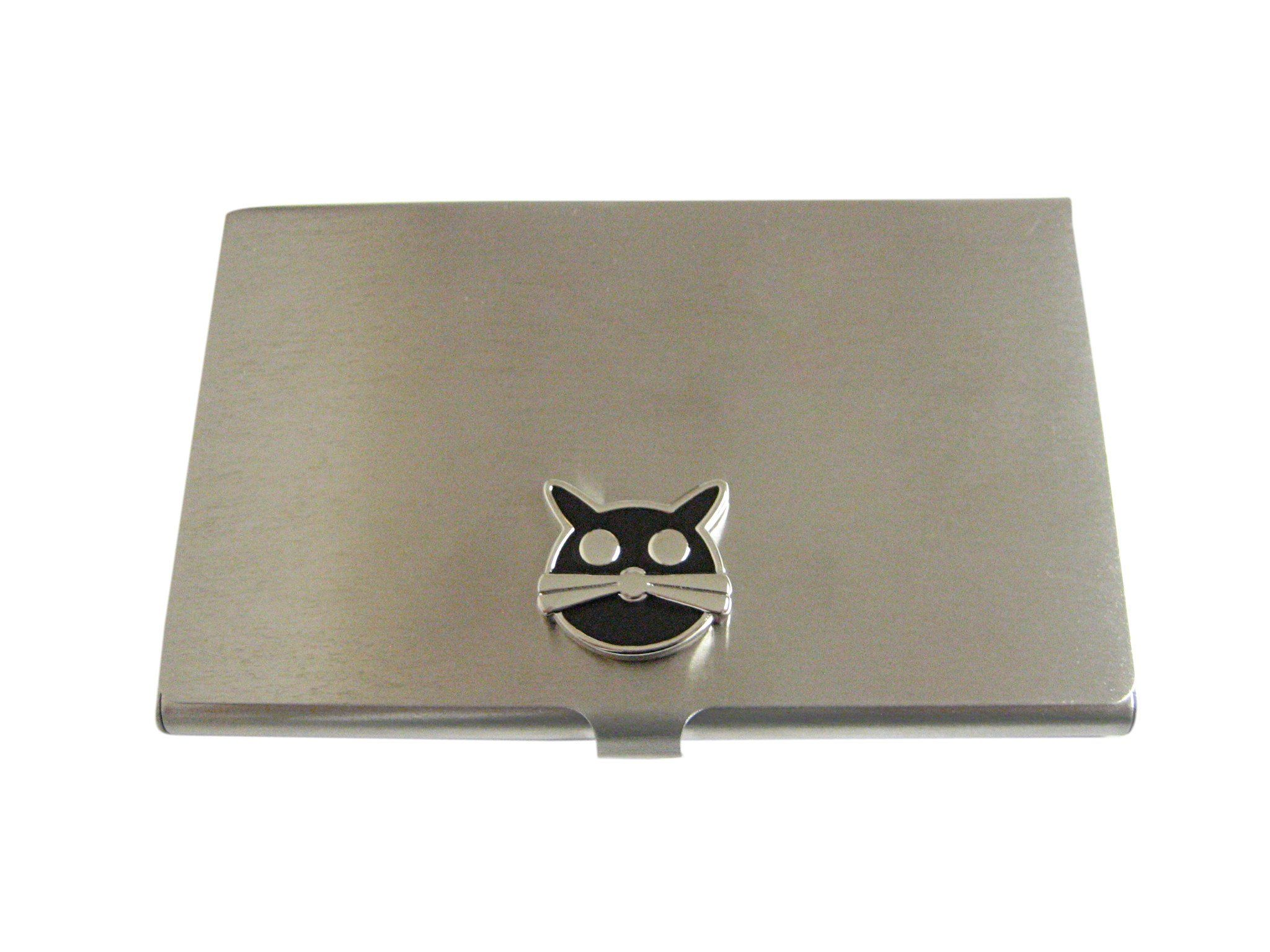 Black Cat Head Business Card Holder | Business card holders ...