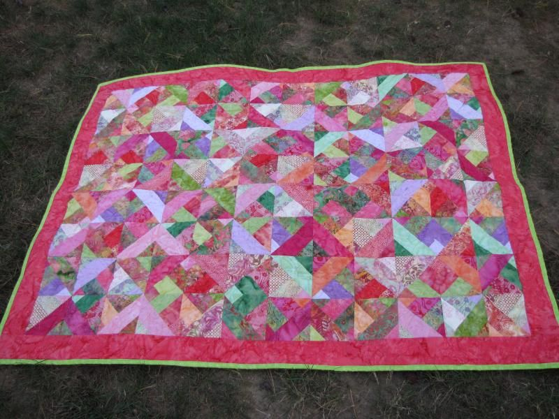 Bubblegum and Butterflies quilt by CarolynMT in Haverhill, MA ... : three dudes jelly roll quilt - Adamdwight.com