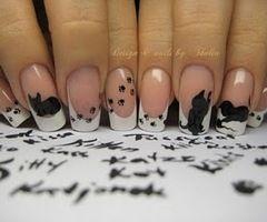 Here kitty kitty. :3  HAHA @Shannon Cavallaro, look at these nails!!