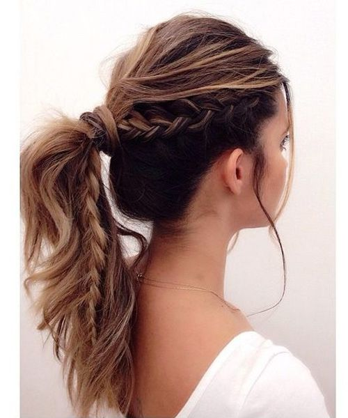 Occasional Half Braided Ponytail Hairstyles For Women Hair And