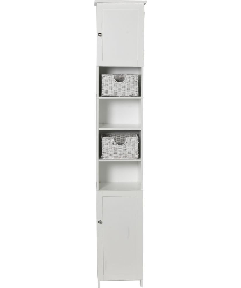 Buy HOME Manhattan Tall Cabinet - White at Argos.co.uk - Your Online ...