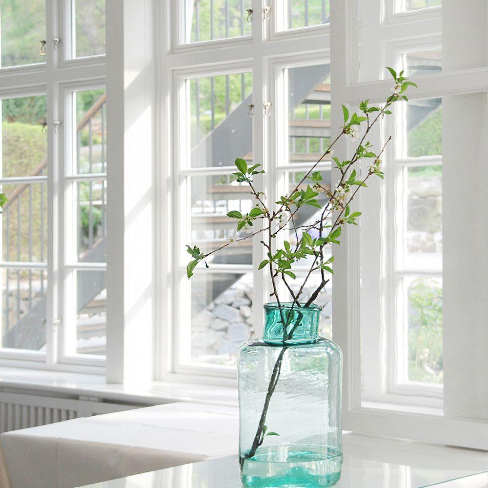 Ekstrands fönster med äkta wienerspröjs på sommarvilla #Ekstrands ...