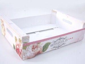 caja de frutas decorada con multitcnica - Cajas De Frutas Decoradas