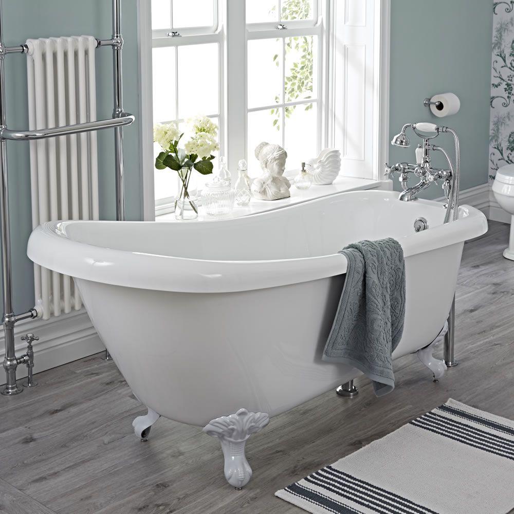 Freistehende badewanne roma mit auswählbaren füßen image 1