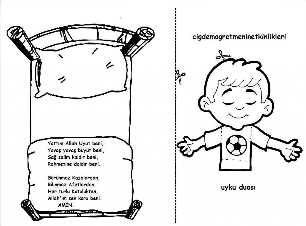 Uyku Duasi Okul Oncesi Etkinlik Kaynaginiz Okul Oncesi