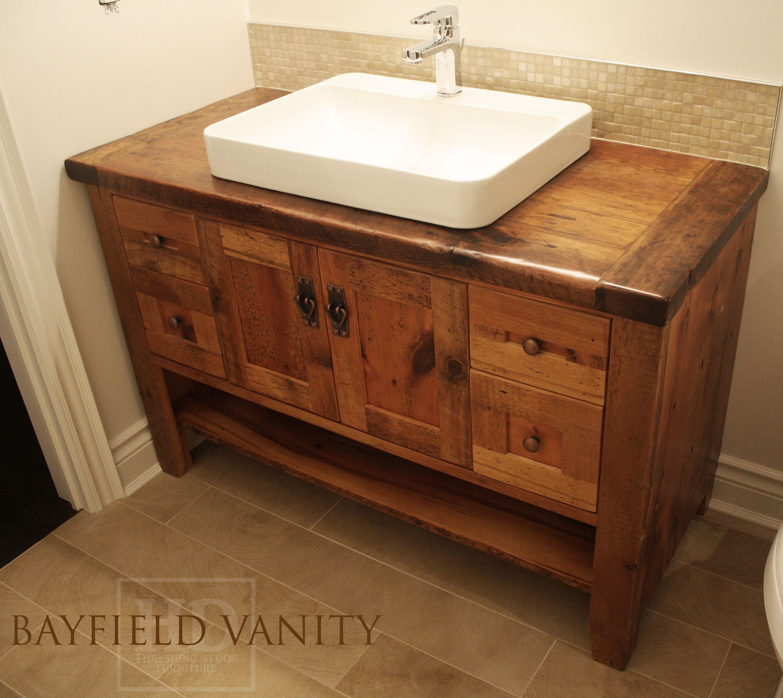 Reclaimed Barnwood Vanity By Hd Threshing Floor Furniture Of