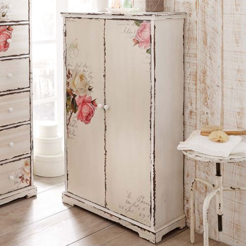 schrank rose vorderansicht shabby roses cottage pinterest schrank m bel und shabby chic m bel. Black Bedroom Furniture Sets. Home Design Ideas