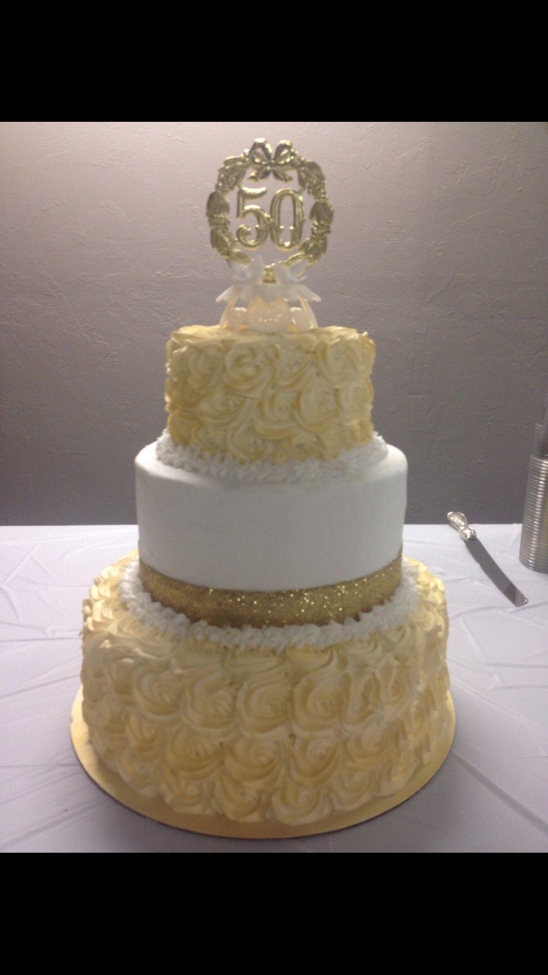 Anniversary cake I made 50th wedding anniversary cakes