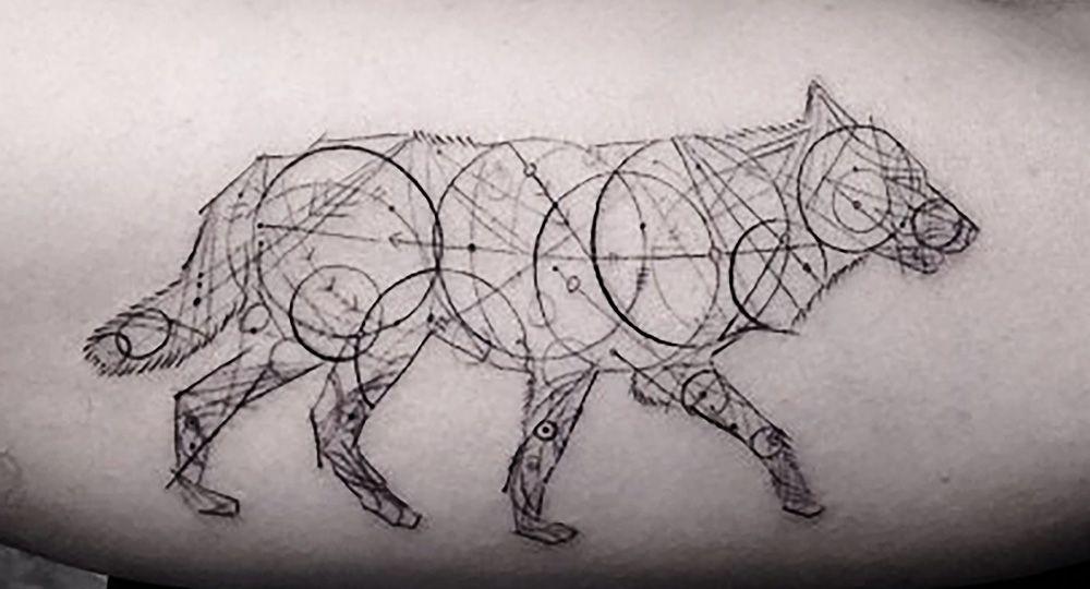 Line Art Tattoo Designs : Dr woo wolf tattoo tattoos