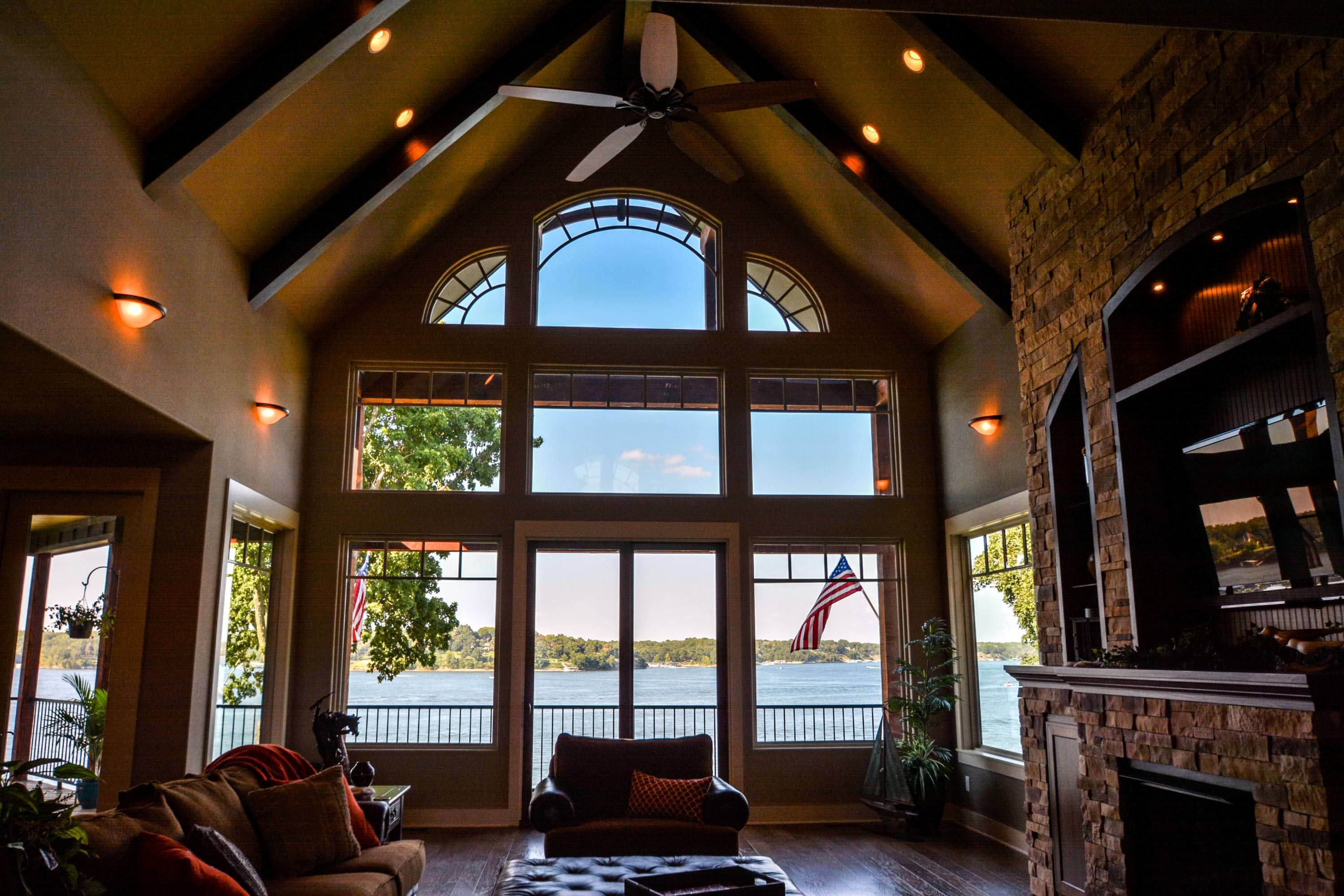 The cathedral ceiling of the house is indeed fascinating - Vaulted ceiling designs for homes ...