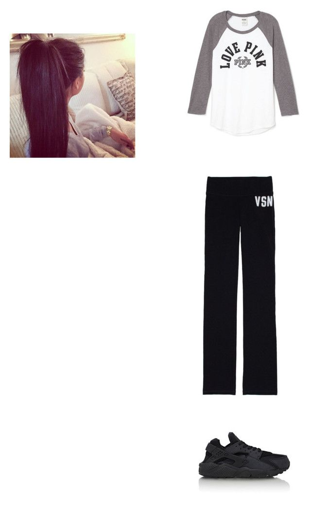 """outfit for tuesday"" by mayawhite04 on Polyvore featuring Victoria's Secret and NIKE"