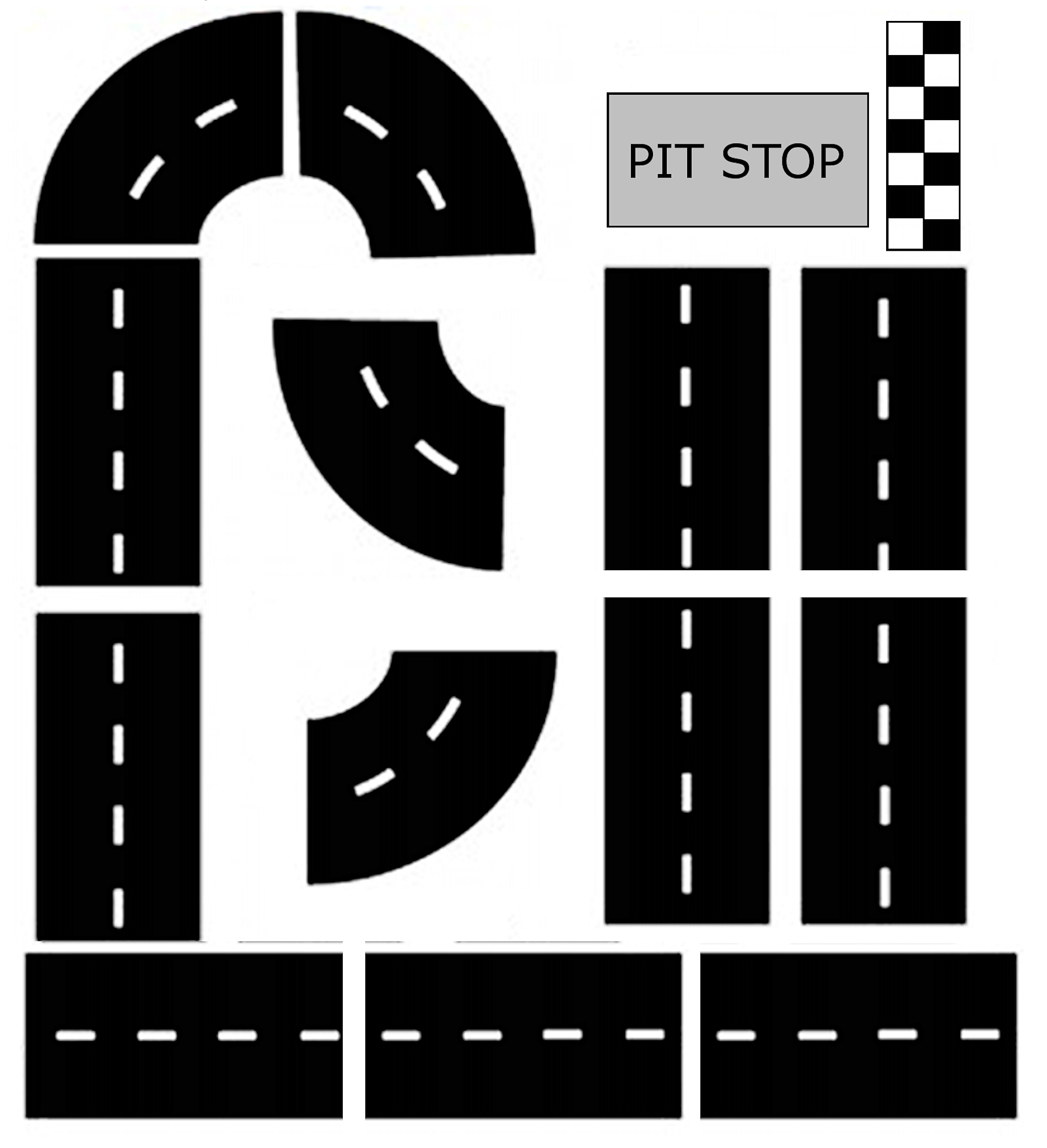 Free Printable Race Track Game Our Kid Things Car Tracks For Kids Race Track Racing