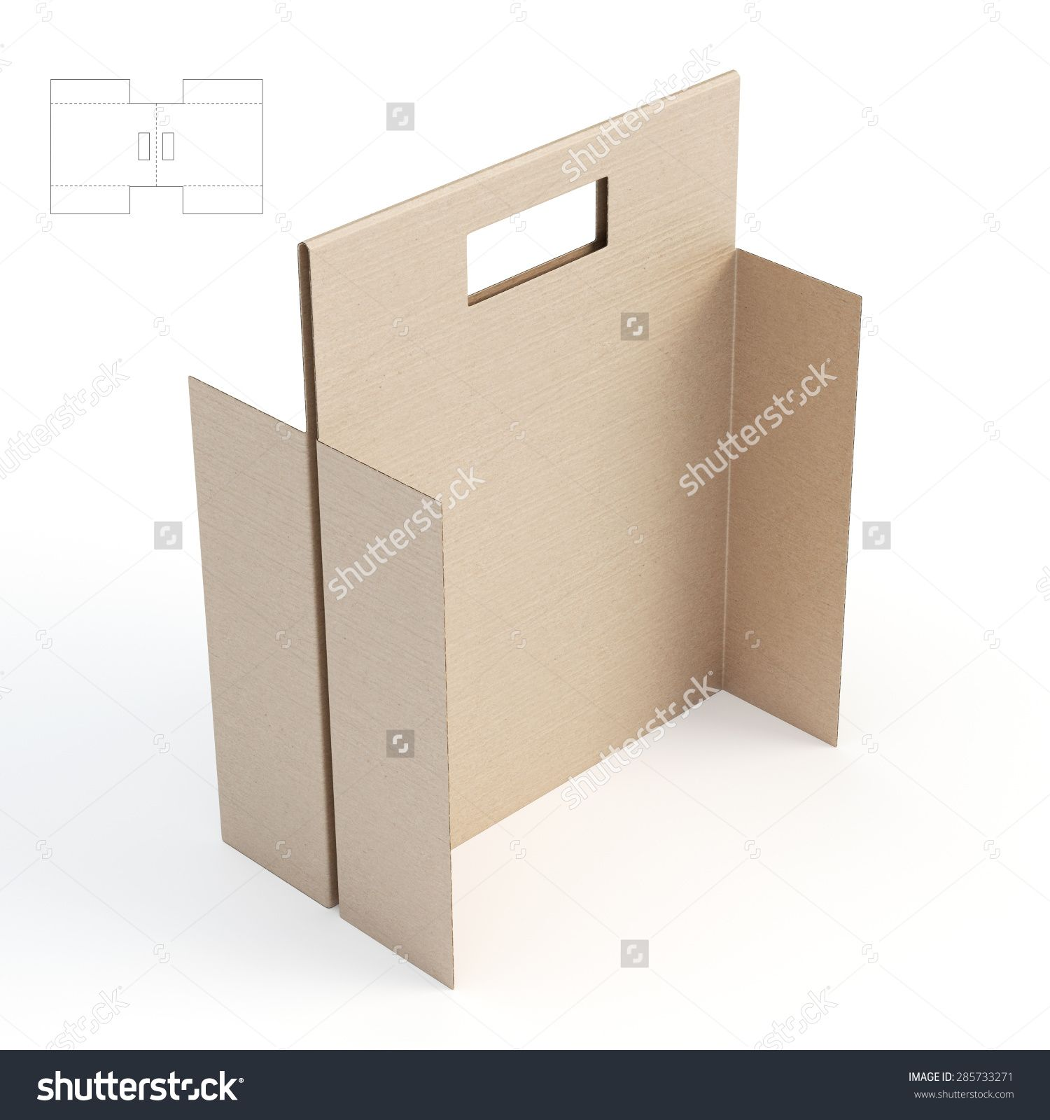 Divider With Handle Packaging And Die Cut Template Stock Photo ...