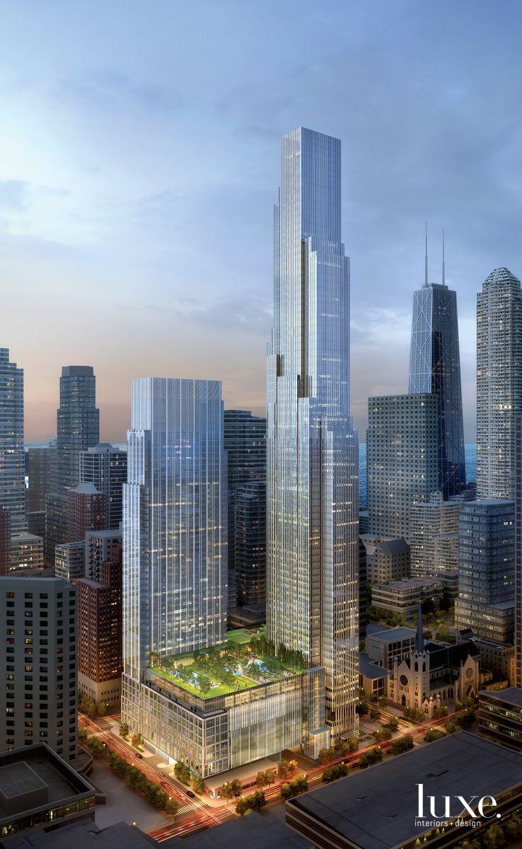 Explore Luxury Lifestyle Living At One Chicago Square Skyscraper Futuristic Architecture City Architecture