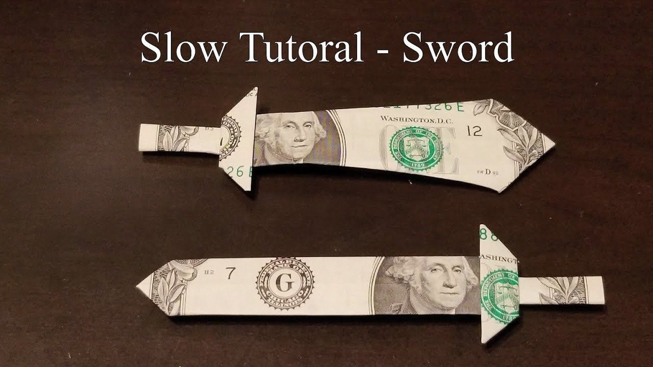 Origami How To Make A Paper Sword Tutorial Pdf Diagrams And Shield Of The Woona Dollar Slow