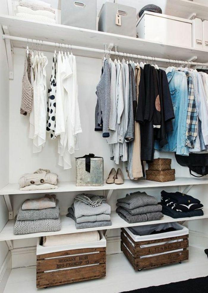 1001 Idees Et Tutos Pour Fabriquer Un Meuble En Cagette Charmant Idee Dressing Faire Un Dressing Amenagement Dressing