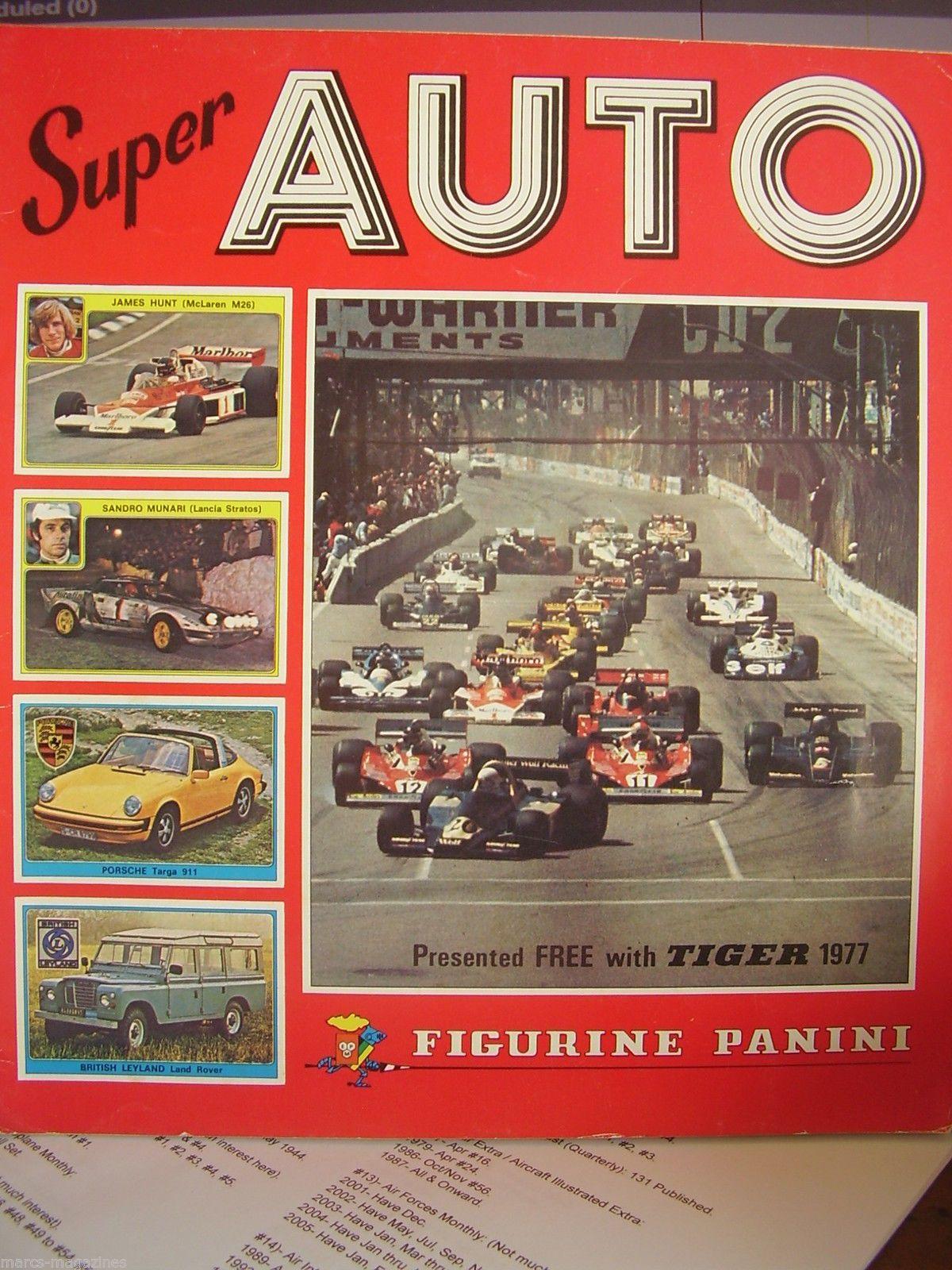 Rare Figurine Panini Sticker Album Book 1977 Super Auto Tiger Unused Formula 1 Sticker Album Album Book Figurines [ 1600 x 1200 Pixel ]