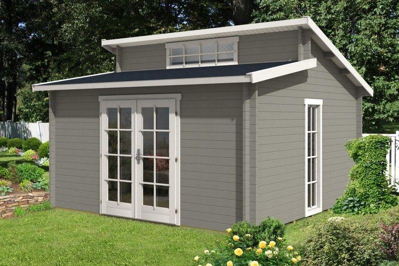 Das Gartenhaus Lausitz40 ISO wird aufgebaut (Fotostory