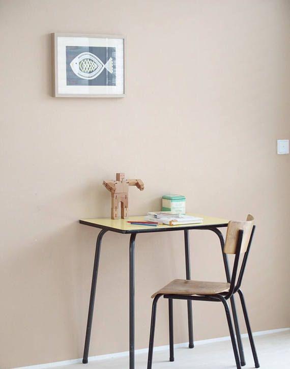 Vintage Tisch Und Stuhl Für Kinder Kleiner Schreibtisch