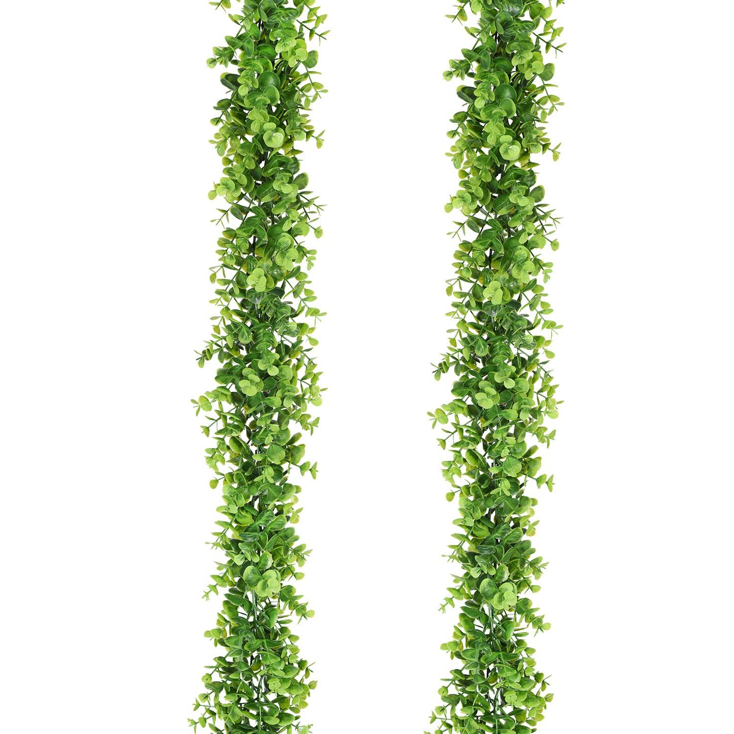 Faux Eucalyptus Garland Plant, 2 Pack Artificial V