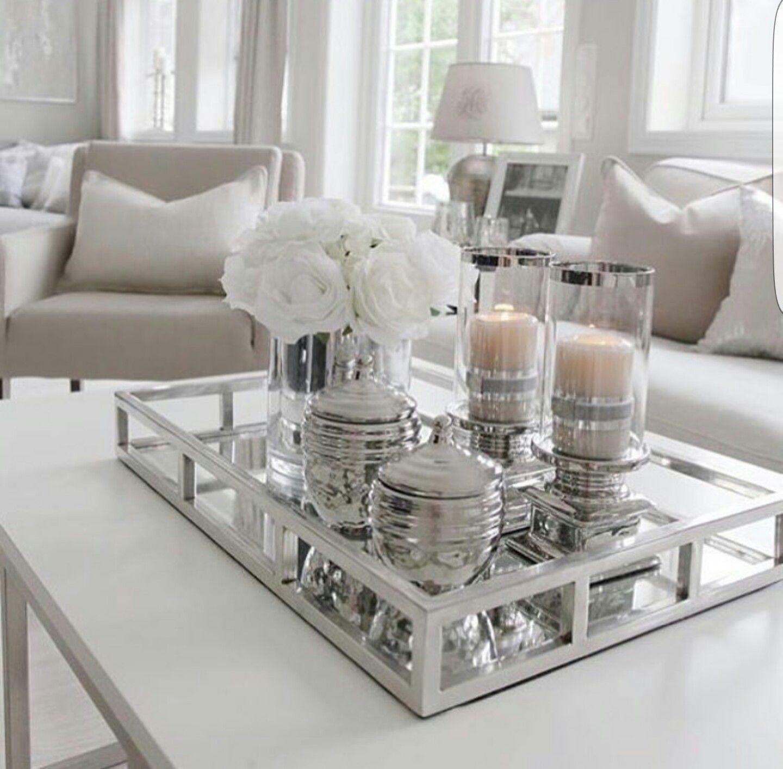 Living Room Table Decor White Center Table For The Living Room Puirvor Table Decor Living Room Elegant Living Room Living Room Table