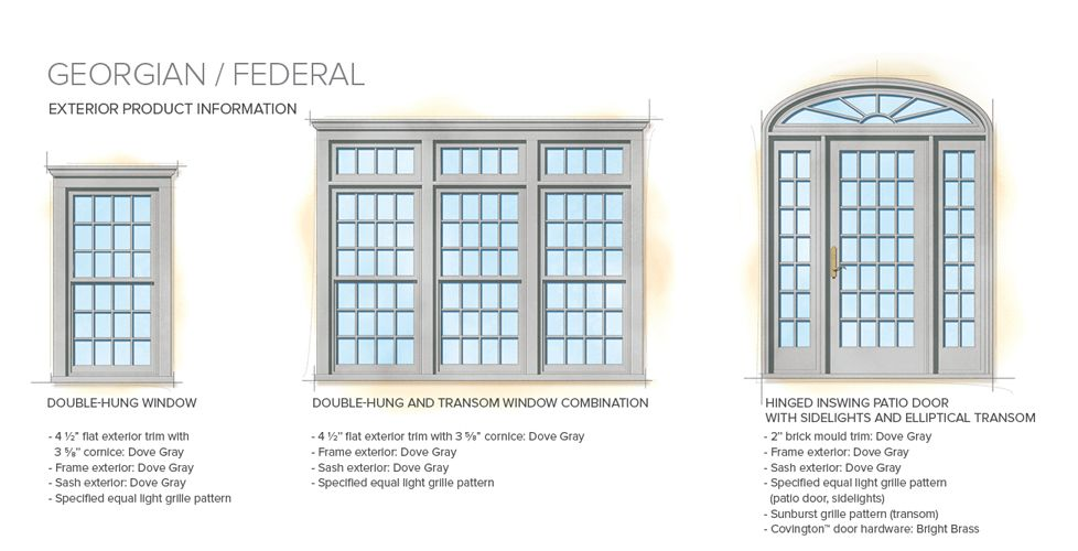 Home Window Styles Style Library Georgian Federal