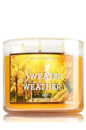 Sweater Weather 3 Wick Candle Bath Body Works The Perfect