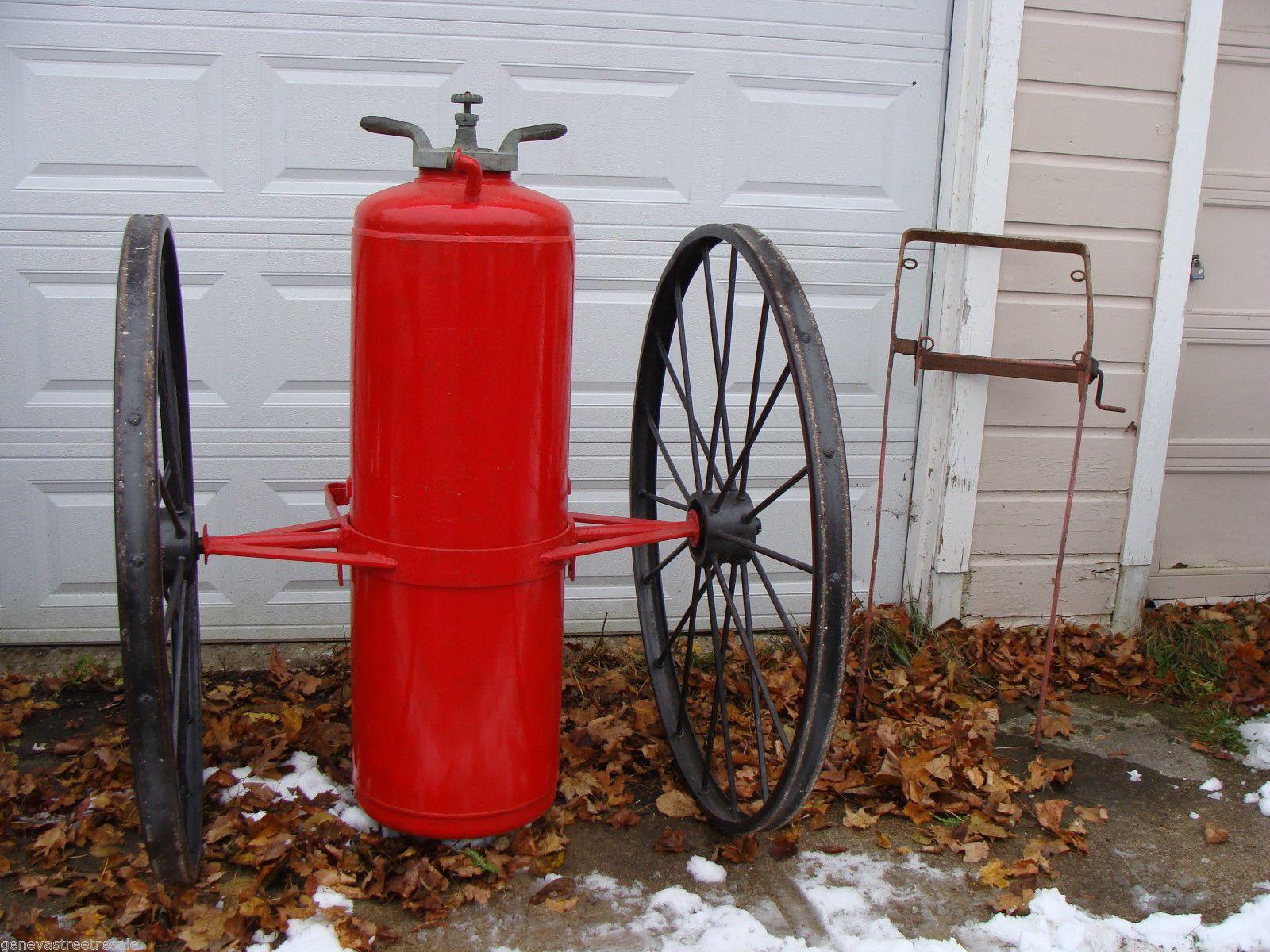 Antique 1800s Ajax Fire Engine Chemical