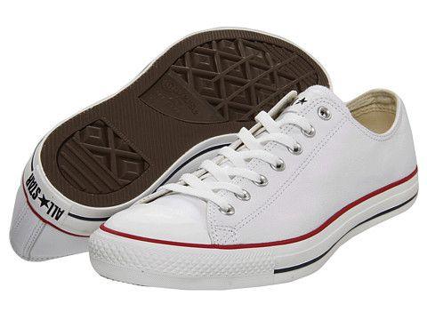 Converse Chuck Taylor® All Star® Specialty Leather OX White Leather -  Zappos.com Free Shipping BOTH Ways 7bc139126