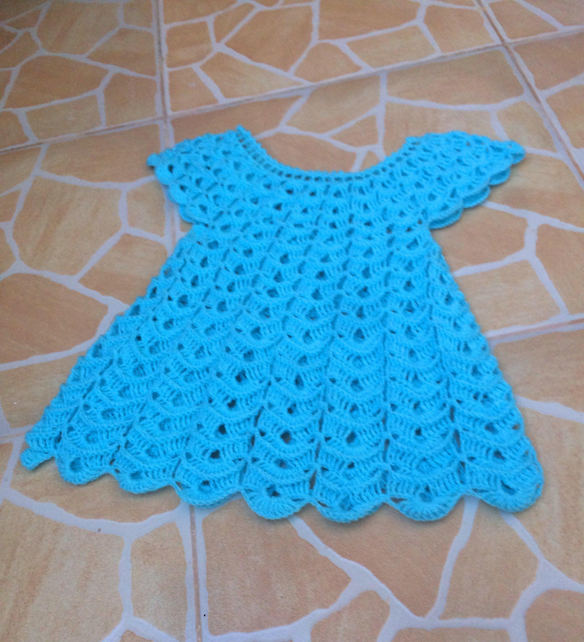 Vestido tejido a crochet todas las tallas parte 1 | Vestidos para ...