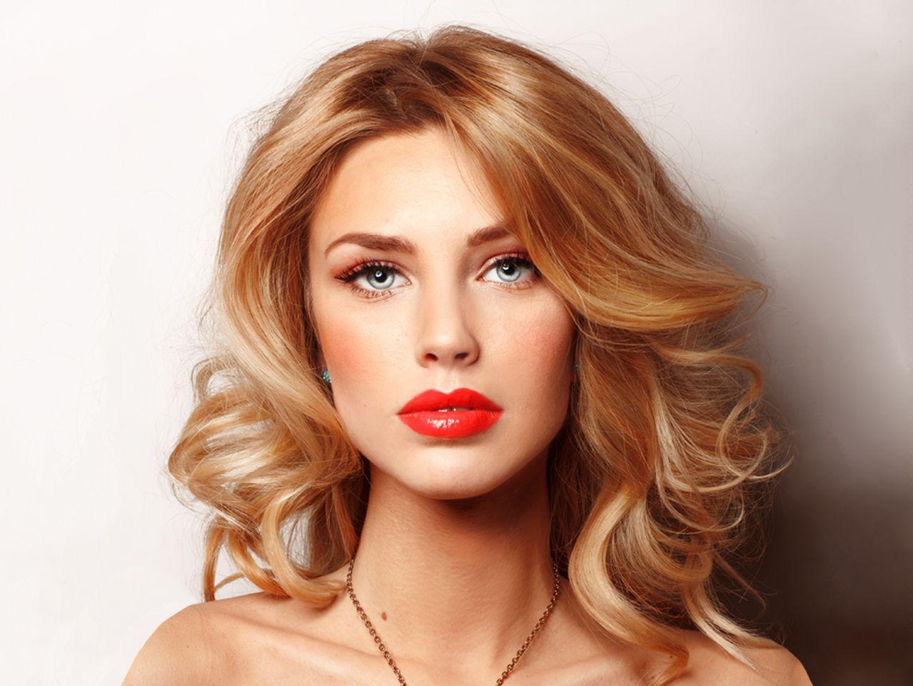 блондин медный цвет волос фото