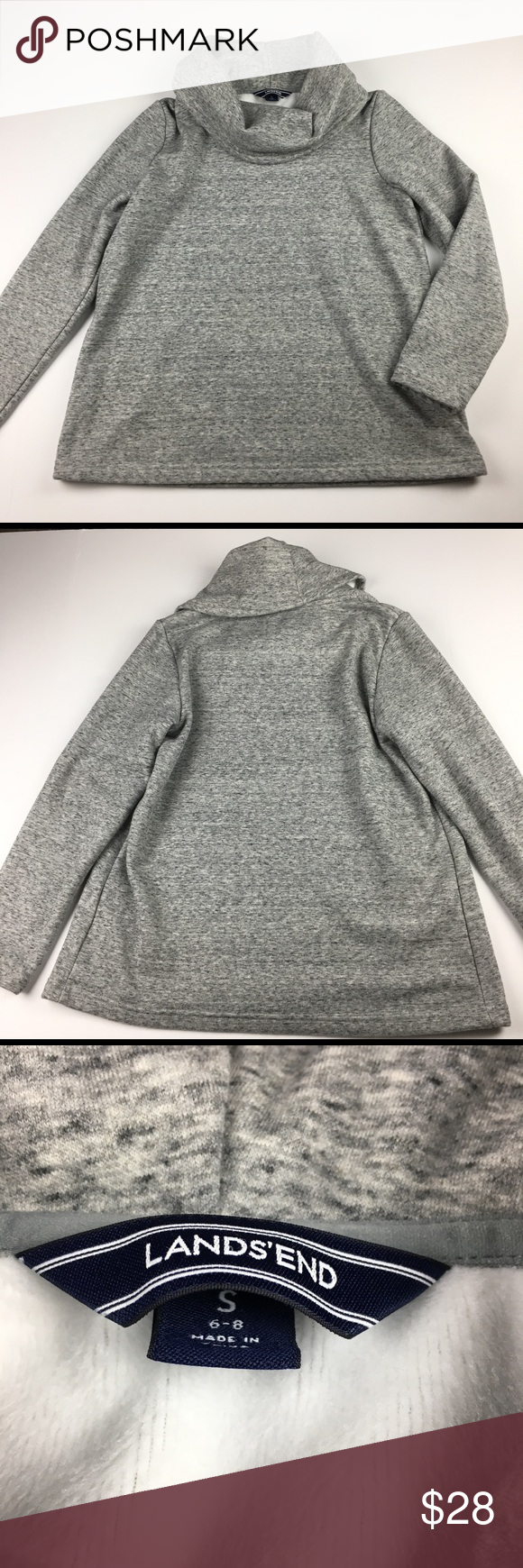 Lands End Gray Cowl Neck Fleece Lined Sweatshirt Chest Measures 20 Across Length 26 Lands End Tops Sweatshirts Hood Grey Cowl Sweatshirt Tops Sweatshirts [ 1740 x 580 Pixel ]